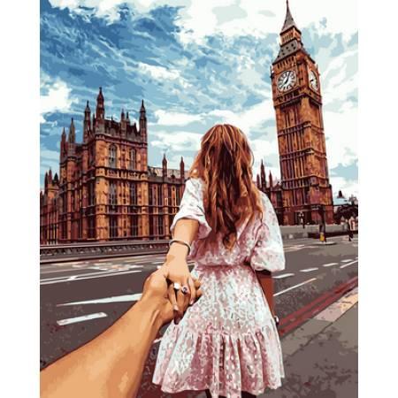 Картина по номерам «Следуй за мной Лондон», модель VP706