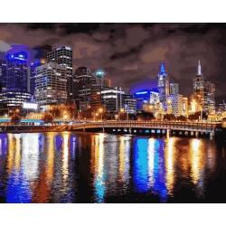 Мельбурн Ночная Австралия