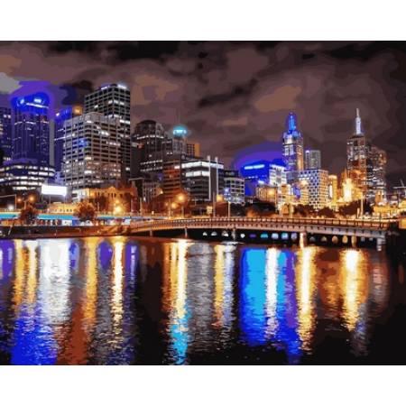 Картина по номерам «Мельбурн Ночная Австралия », модель VP729