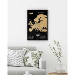 Скретч карта Европы Travel Map® Black Europe