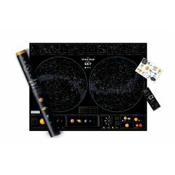 Star map of the sky