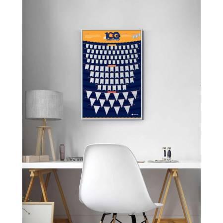 """Скретч-постер """"100 Больших и очень больших дел"""""""