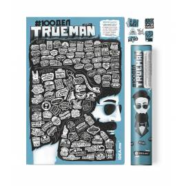 Скретч-постер #100дел True Man edition