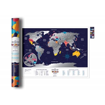 Скретч карта мира Travel Map ™ «Holiday World»  (на английском языке)