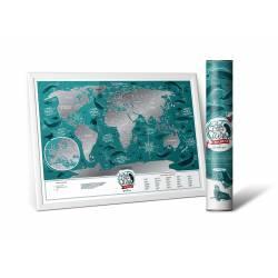 Скретч карта мира Travel Map ™ «Marine World» (на английском языке)