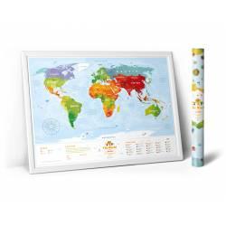 Карта мира Travel Map Kids Animals с набором карточек (рус)