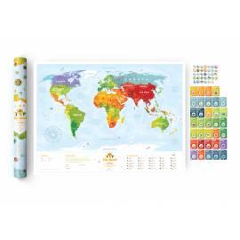 Карта мира Travel Map Kids Sights с набором карточек (рус.)