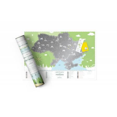 """Картина по номерам Скретч карта Украины """"Моя Украина"""" (укрязык) (MP007), Travel Map"""