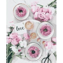 Розовые пончики