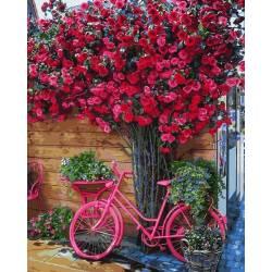 Велосипед на цветочном фоне