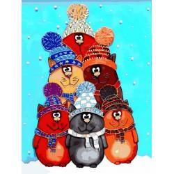 Котики в теплых шапках