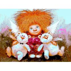 Солнечный ангел с игрушками