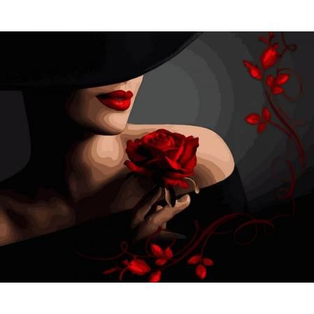 Красотка с розой