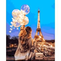 Воздушные шары вечернего Парижа