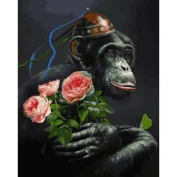 Обезьяна с розами