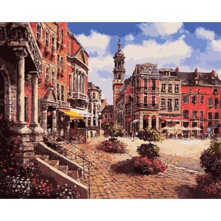 Картина по номерам «Городская площадь», модель VP243