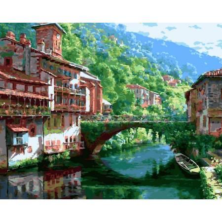 Картина по номерам Живописный мост VP245, Babylon