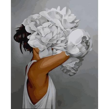 Картина по номерам Женщина в пионах MR-Q2235, Babylon