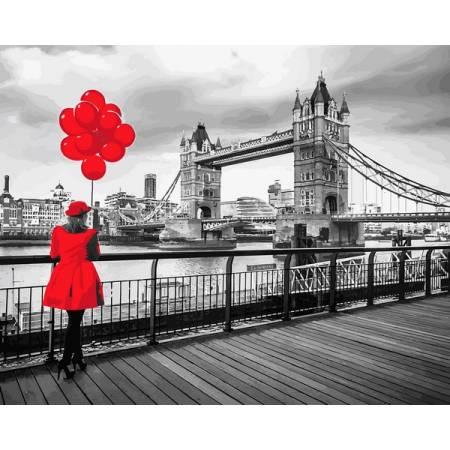 Картина по номерам Девушка в красном MR-Q2239, Babylon
