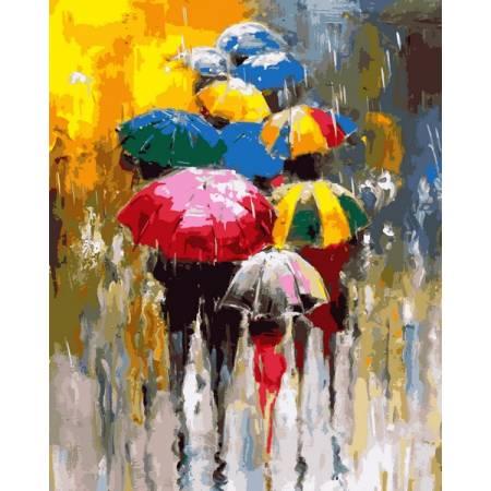 Картина по номерам Разноцветные зонтики MR-Q2243, Babylon