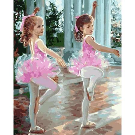 Картина по номерам Маленткие балерины MR-Q2244, Babylon