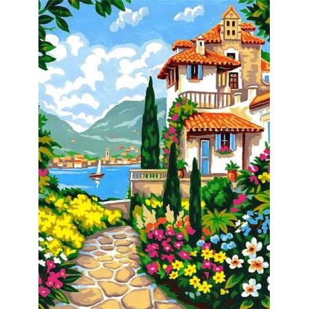 Картина по номерам Сад у моря VK257, Babylon