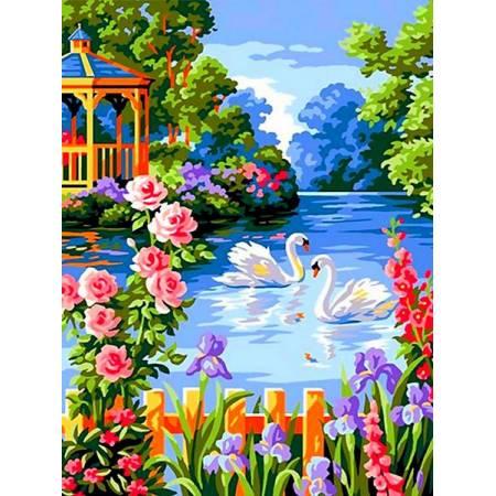 Картина по номерам Лебеди нва пруду VK259, Babylon