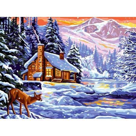 Картина по номерам Шале зимой VK265, Babylon