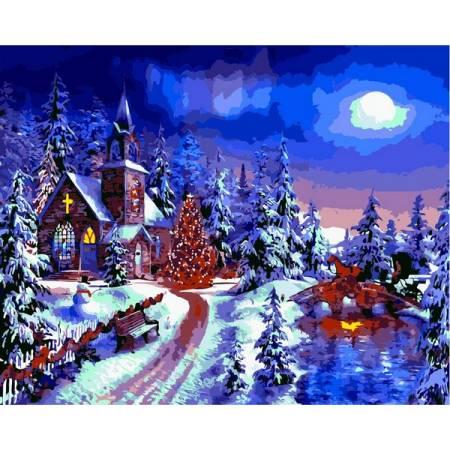 Картина по номерам Новогодняя ночь VP1263, Babylon
