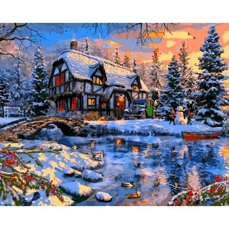 Картина по номерам Зима за городом VP1266, Babylon