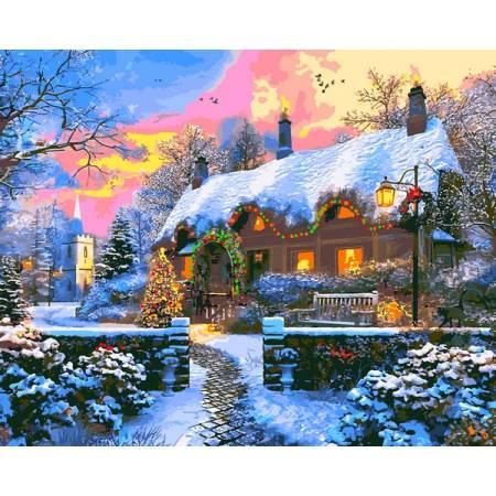 Картина по номерам Дом на Рождество VP1268, Babylon