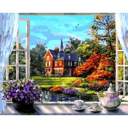 Картина по номерам Окно в весн VP1273, Babylon