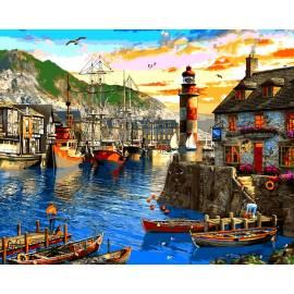 Восход солнца в порту