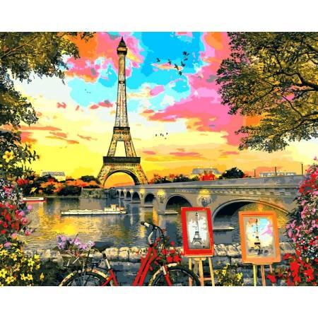 Картина по номерам Закат в Париже VP1281, Babylon