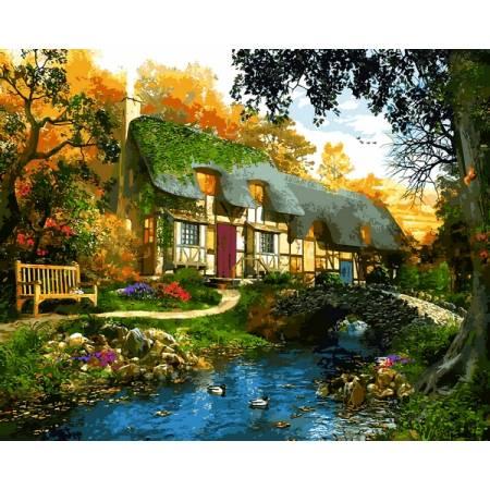 Картина по номерам Дом у пруда VP1286, Babylon