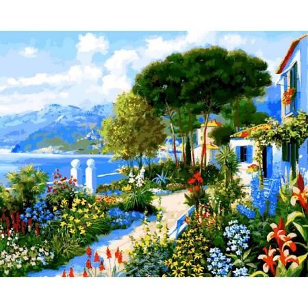 Картина по номерам Сад у дома VP1292, Babylon
