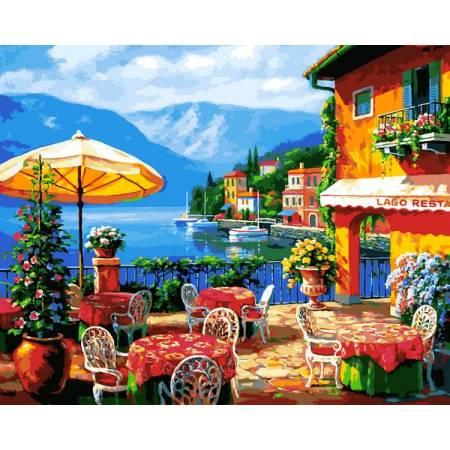 Картина по номерам Кафе на озере VP1295, Babylon