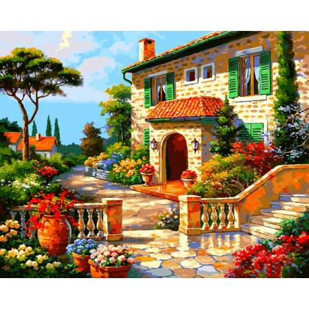 Картина по номерам Вилла в цветах VP1296, Babylon