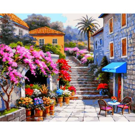 Картина по номерам Цветочный магазин VP1300, Babylon