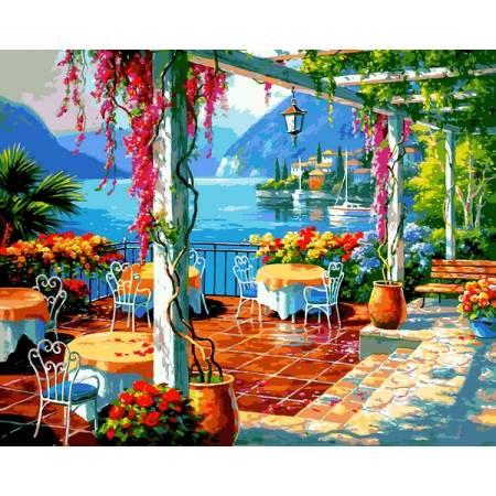 Картина по номерам Кафе на берегу VP1304, Babylon