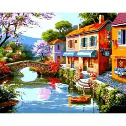 Дома в доль реки