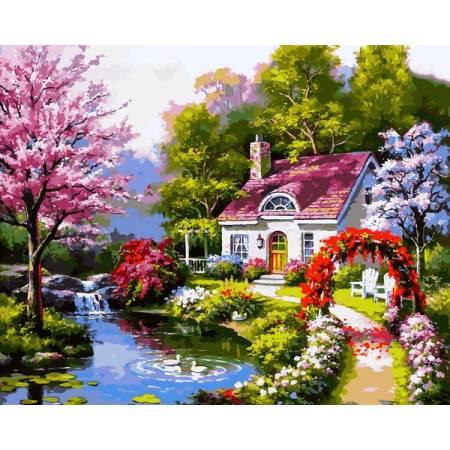 Картина по номерам Весенний коттедж VP1306, Babylon