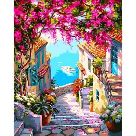Картина по номерам Лестница к морю VP1307, Babylon