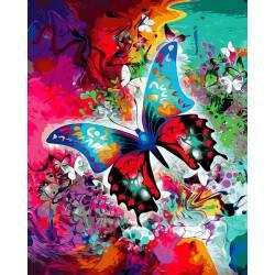 Бабочка в красках