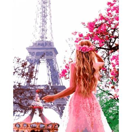 Картина по номерам Влюбленная в Париж VP1324, Babylon