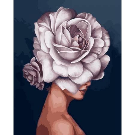 Картина по номерам Девушка-роза VP1334, Babylon